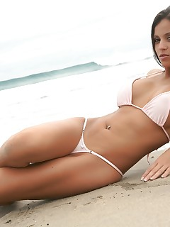 Janessa Brazil skimpy beach