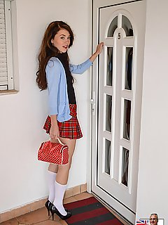Schoolgirls young uniform pics